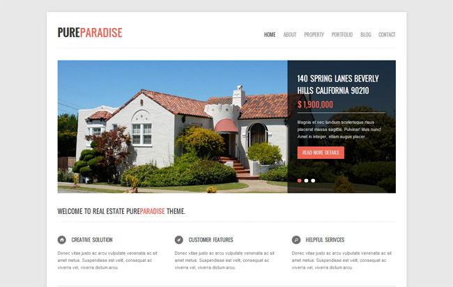 Pure Paradise WordPress Theme