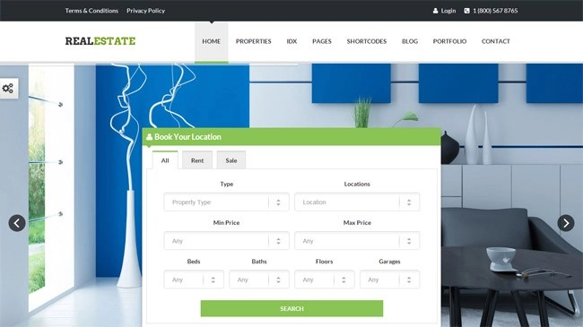 RealEstate WordPress Theme