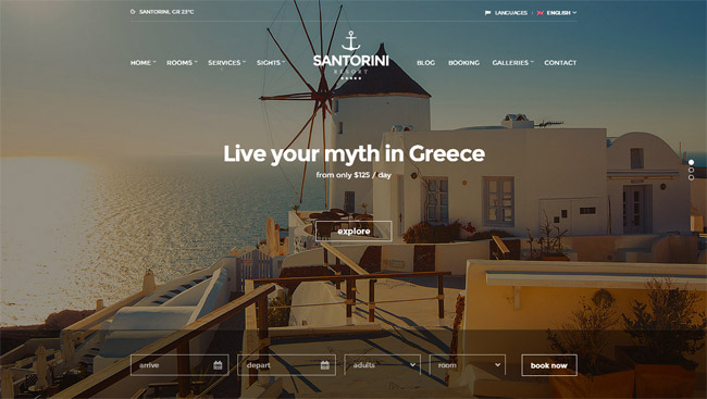 Santorini WordPress Theme