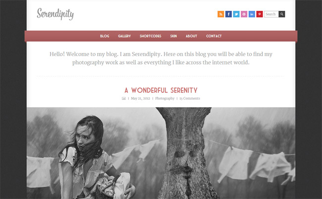 Serendipity WordPress Theme