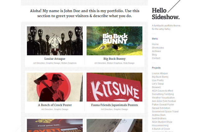 Sideshow WordPress Theme