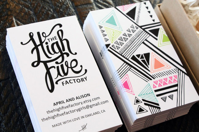 The High Five Factory Business Card