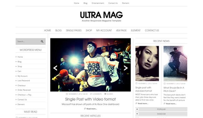 Ultra Mag WordPress Theme