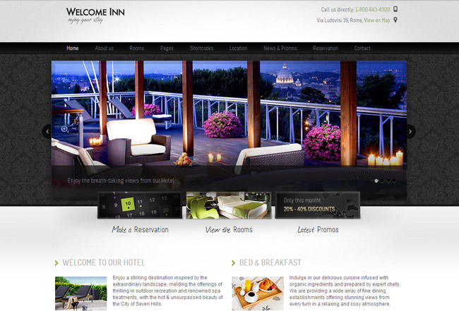 Welcome Inn WordPress Theme