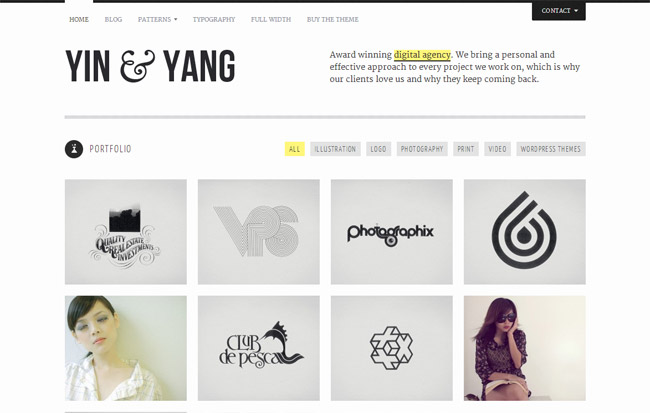 Yin & Yang WordPress Theme
