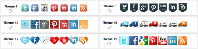 Floating Social Media Icon Sets