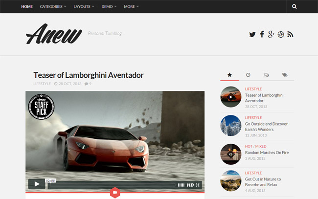 Anew Free WordPress Theme