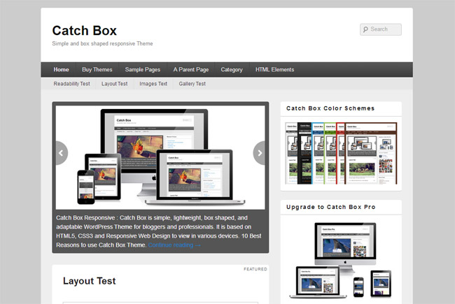 Catch Box Free WordPress Theme