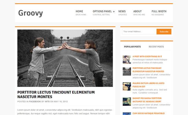 Groovy Free WordPress Theme