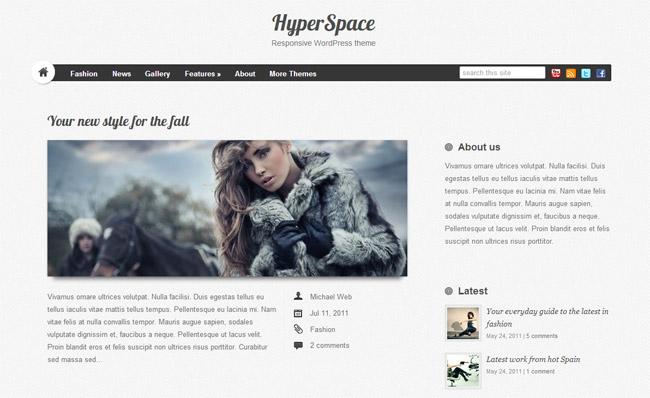 Hyperspace Free WordPress Theme