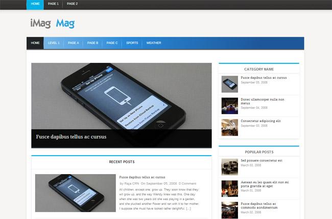 iMag Mag Free WordPress Theme
