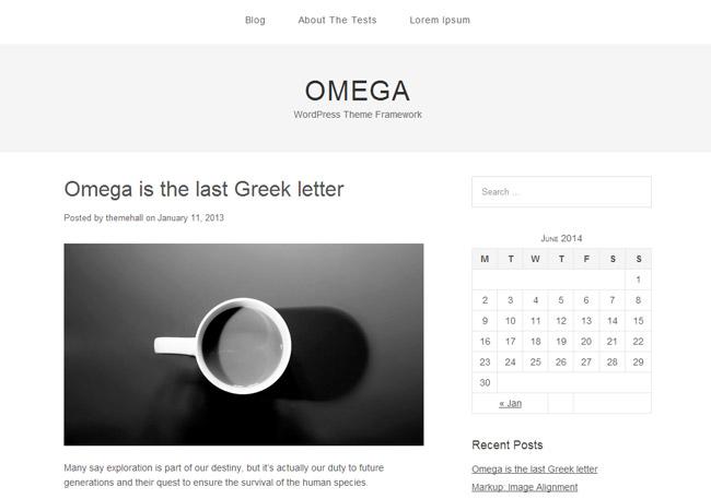 Omega Free WordPress Theme