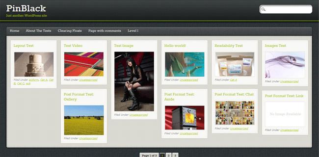 PinBlack Free WordPress Theme