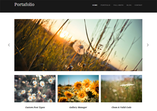 Portafolio Free WordPress Theme