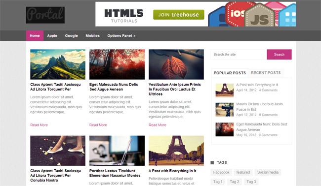 Portal Free WordPress Theme