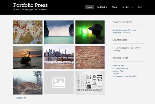 Portfolio Press Free WordPress Theme