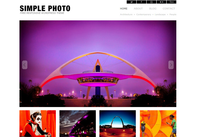 SimplePhoto Free WordPress Theme