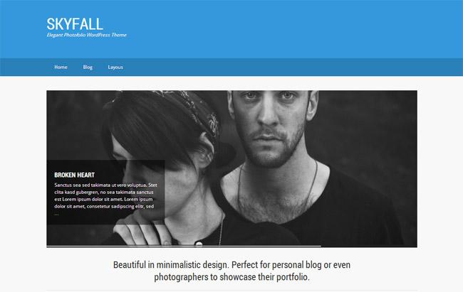 Skyfall Free WordPress Theme