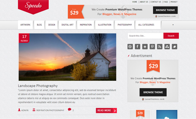 Speedo Free WordPress Theme