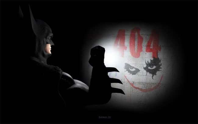 Batman 3D Error Page