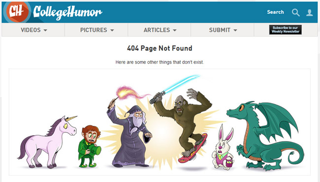 College Humor Error Page