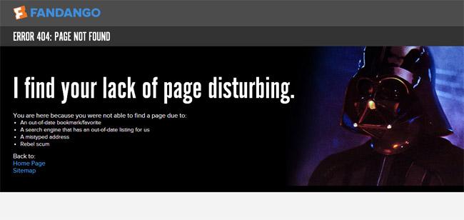 Fandango Error Page