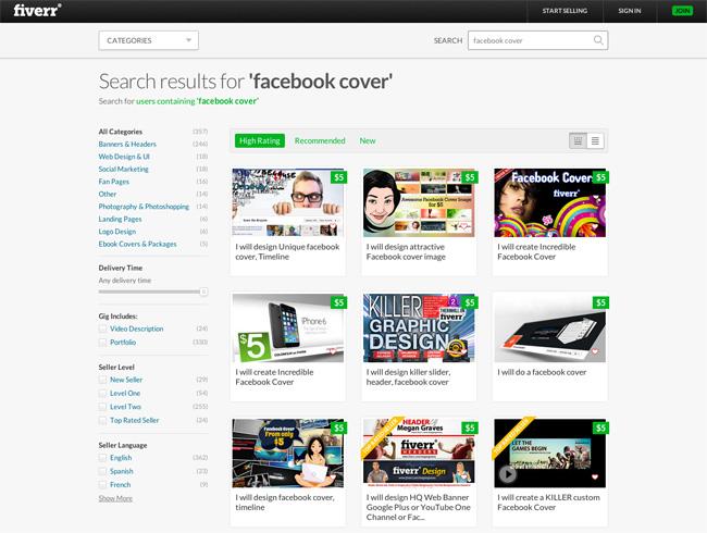 Facebook Cover Design at Fiverr