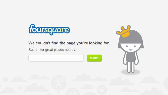 Foursquare Error Page