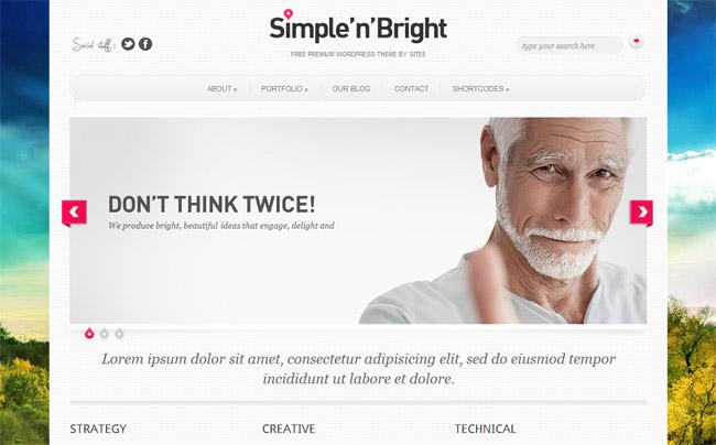 Simplenbright Free WordPress Theme