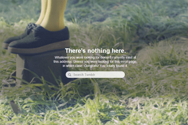 Tumblr Error Page