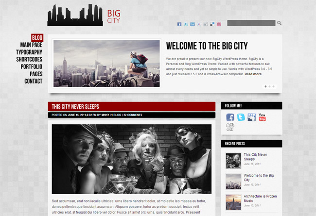 Big City WordPress Theme