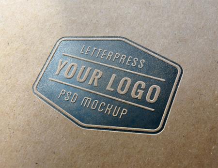 LLetterpress Logo MockUp #1