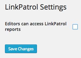 LinkPatrol Settings