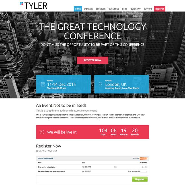 Tyler WordPress Theme