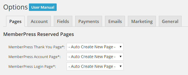 User Interface Create Pages
