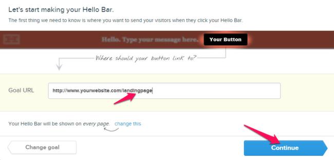 Create Hello Bar