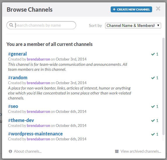 Slack Browse Channels