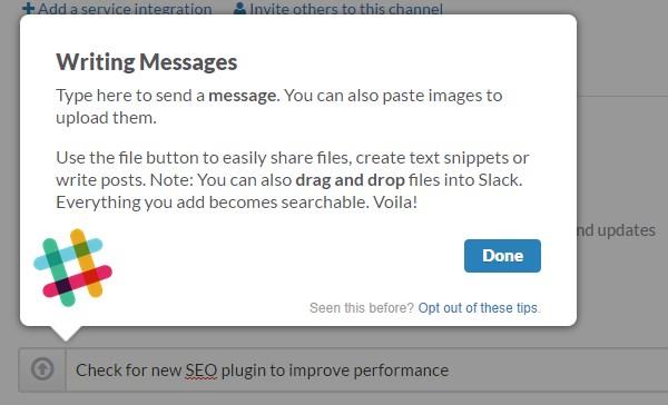Slack messages