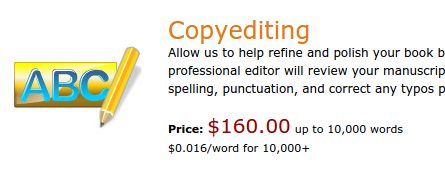 Copyediting Price