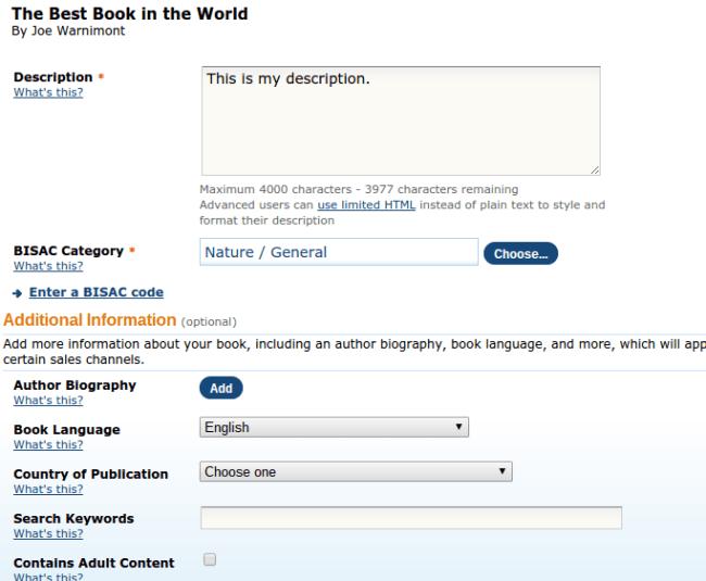 Description for Amazon