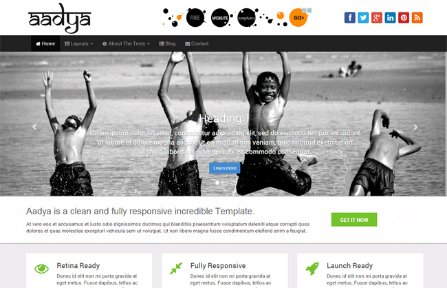 Aadya Free WordPress Theme