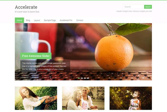 Accelerate Free WordPress Theme