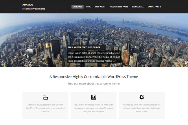 Adamos Free WordPress Theme
