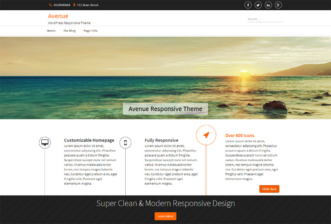Avenue Free WordPress Theme