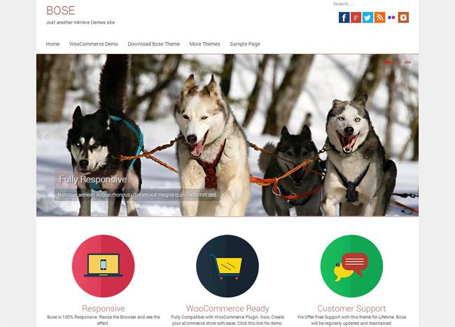 Bose Free WordPress Theme
