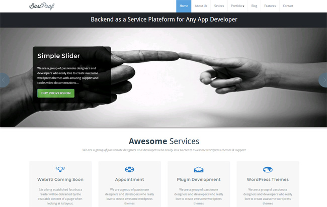 BusiProf Free WordPress Theme