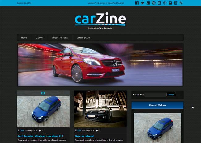 Carzine Free WordPress Theme