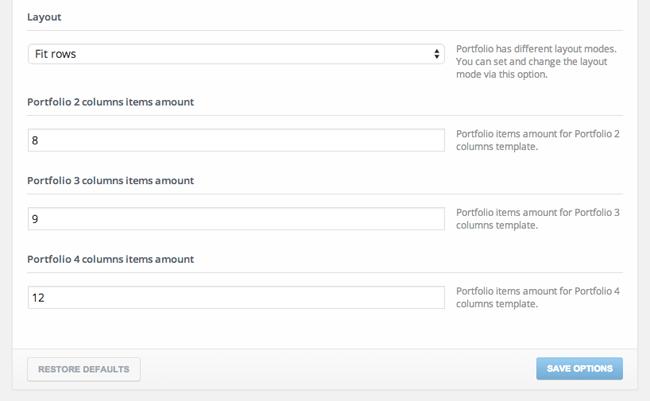 Cherry Framework Portfolio Settings