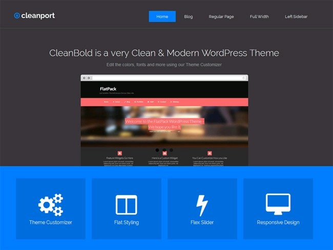 CleanPort Free WordPress Theme