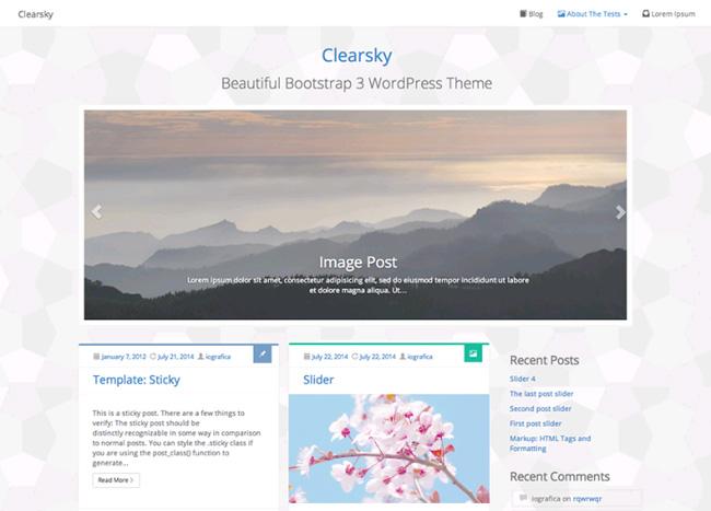Clearsky Free WordPress Theme